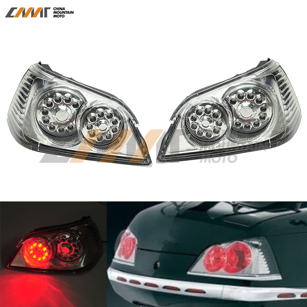 motorcycle Trunk Tail Light Brake Turn Signals With LED case for Honda GoldWing GL1800 2006-2011 aftermarket free shipping motorcycle parts led tail brake light turn signals for honda 2000 2001 2002 2006 rc51 rvt1000r smoke