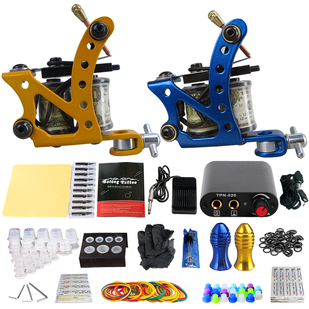 Professionelle Tattoo Kit Tattoo Maschine Set Für Tattoo Liefert Tk201-37 Elegantes Und Robustes Paket Tattoo & Körperkunst
