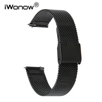 16mm 18mm 20mm 22mm Quick Release Watchband Milanese Stainless Steel Strap Universal Watch Band Wrist Bracelet