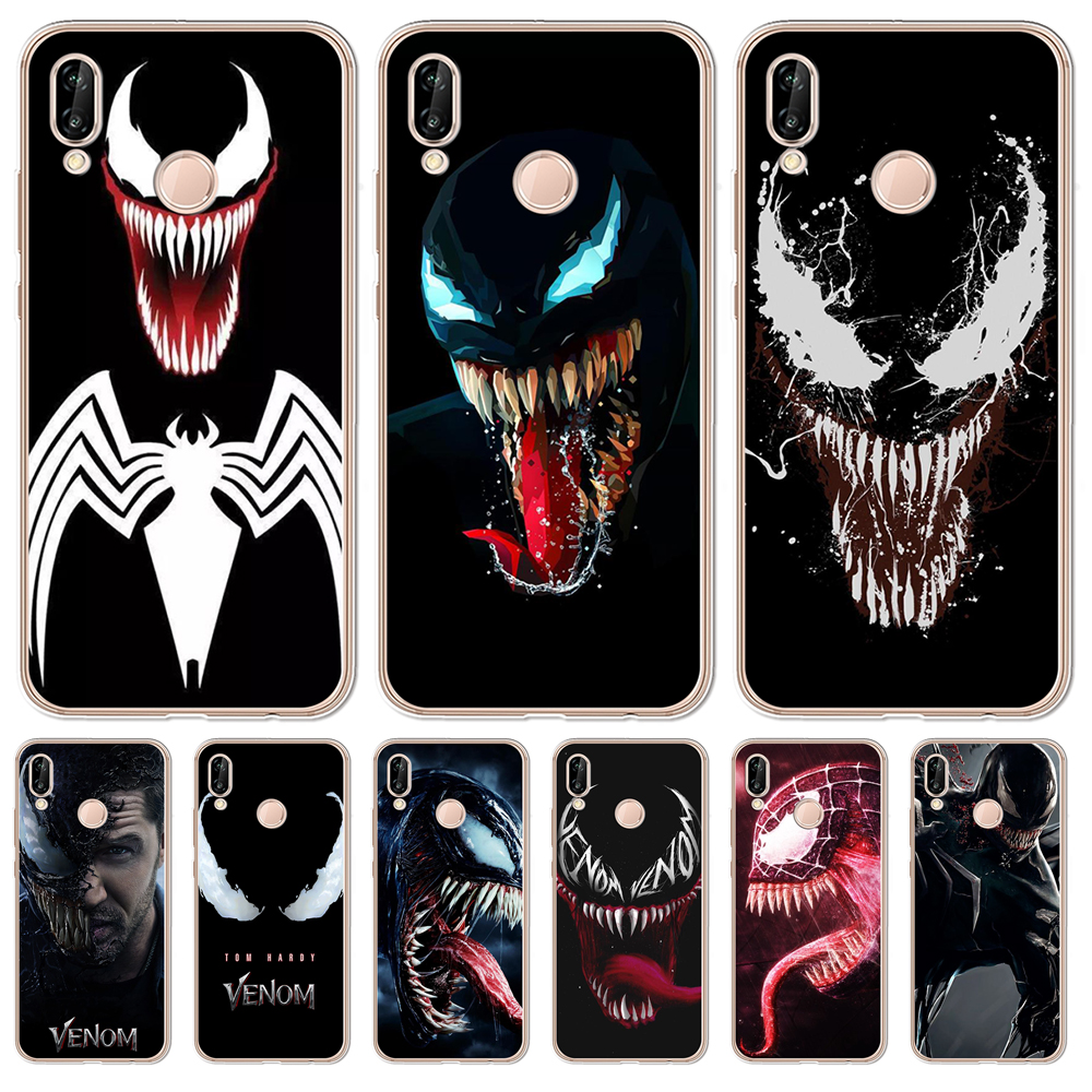 For Coque Huawei Honor 6X 6A 7 7X 7C 7A pro 8 8X 9 10 Lite Case Venom Silicone TPU phone cover funda pattern marvel luxury cool image