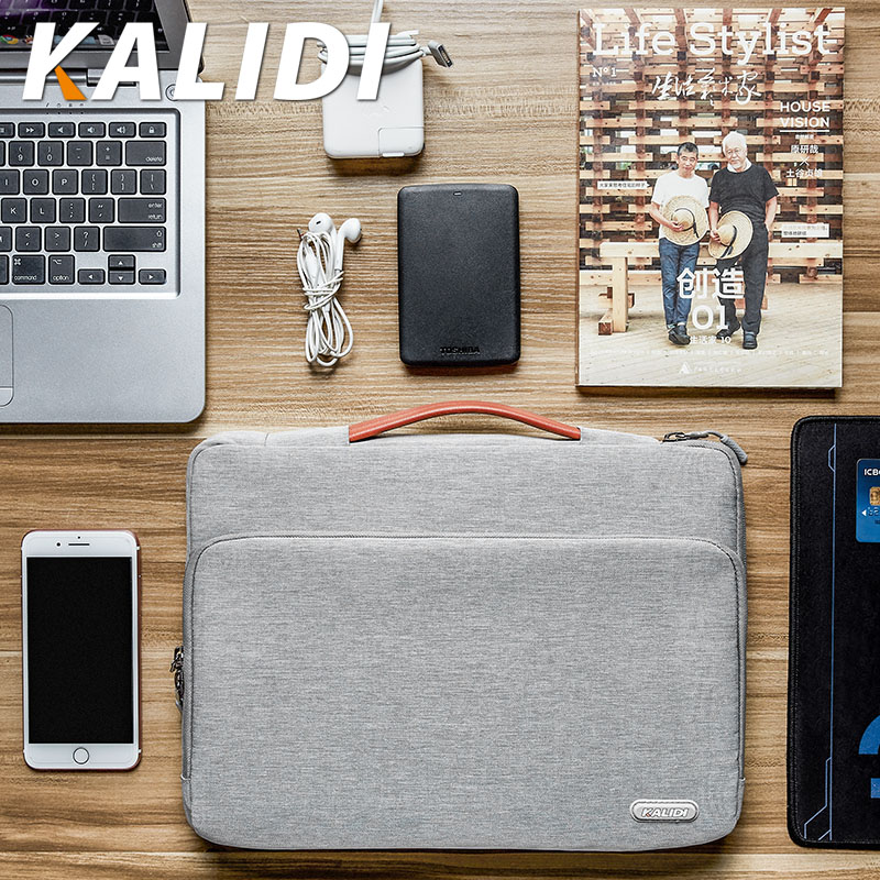 KALIDI Laptop Bag Sleeve 11 12 13.3 14 15.6 Inch Waterproof Notebook Bag For Macbook Air Pro 11 13 15 Computer Bag For Women Men