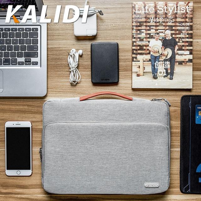 KALIDI Laptop Bag Sleeve 11 12 13.3 14 15.6 Inch Waterproof Notebook Bag For Macbook Air Pro 11 13 15 Computer Bag For Women Men
