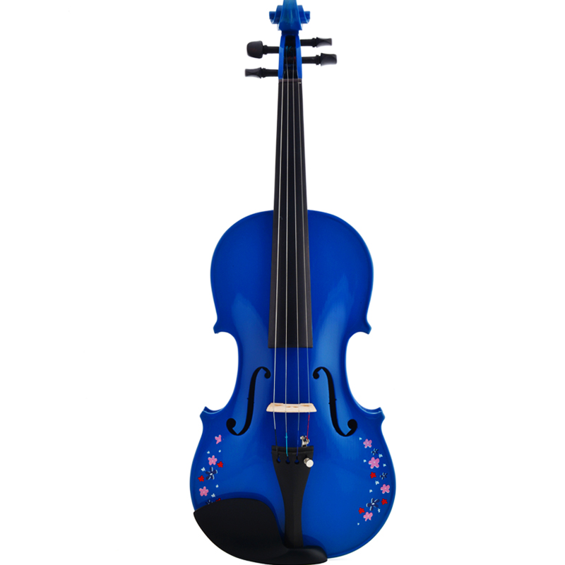 Free shipping 2015 New Christina Violin V03, Genuine High-end Multi color pink,white,blue violin 4/4 violino musical instrument