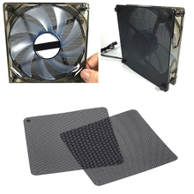 2pcs 12cm Dust Proof Net Computer Case Fan Cooler Filter Dustproof Mesh Cuttable
