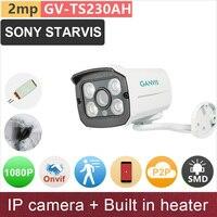 SONY STARVIS Built In Heater 2mp 1080P Full HD IP Camera Outdoor Mini Bullet Starlight Night