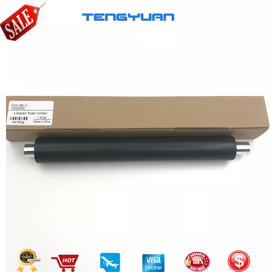 5PC Lower Fuser Pressure Roller for Lexmark T614 T616 T650 T652 T654 S2420 S2450
