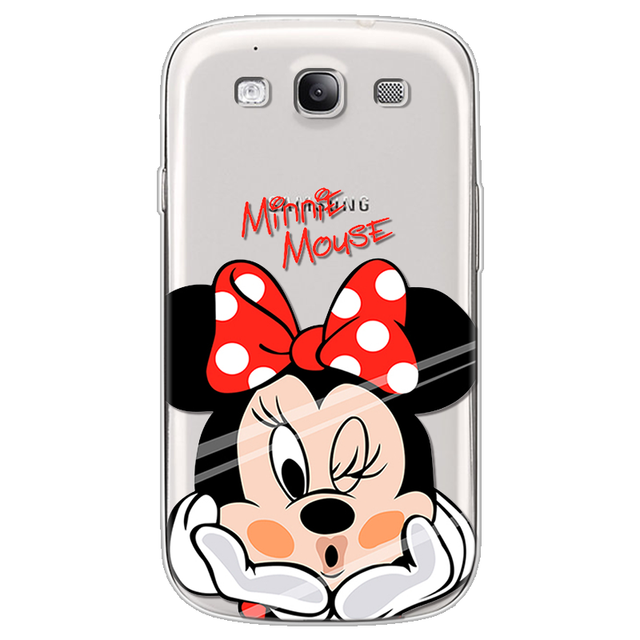 Minnie Silicone Case for Samsung Galaxy S3 Case I9300 Neo i9301 Duos i9300i Soft TPU Cover For Samsung Galaxy S3 Phone Case