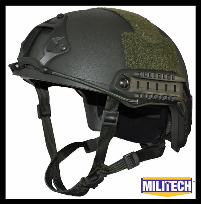 ISO Certified MILITECH OD OCC Dial NIJ Level IIIA 3A FAST High Cut Bulletproof Kevlar Ballistic Helmet With 5 Years Warranty militech black occ dial nij level iiia 3a fast high cut ballistic bulletproof tactical helmet with 5 years warranty devgru seal