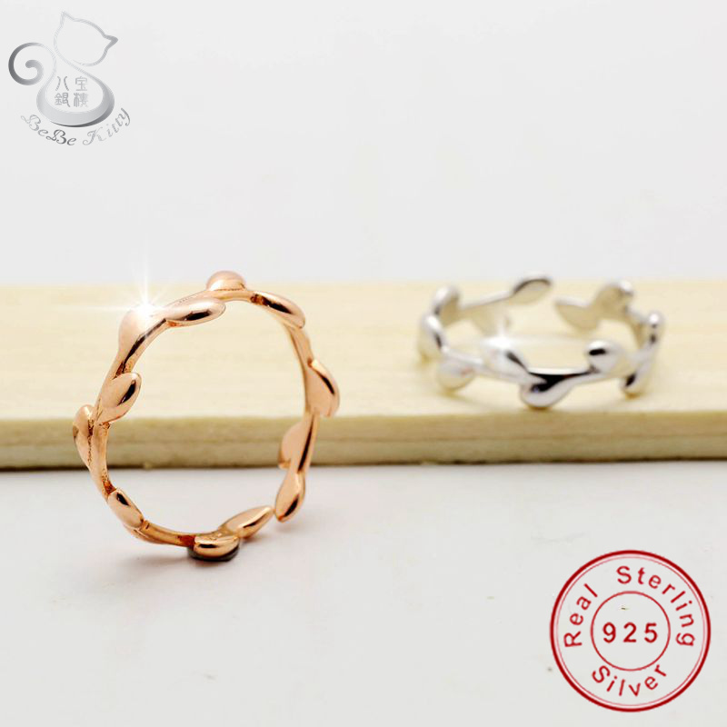 1 pc 925 sterling silver punk rose gold & silver stackable knuckle midi ring for women finger ring bague ring anillos mujer anel image