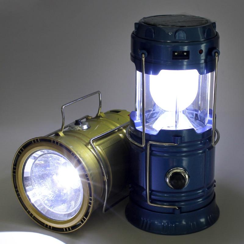 Открытый 6 светодиодов Перезаряжаемые ручной фонарь Портативные фонари Солнечный ся Фонари свет Пеший Туризм Солнечная USB Освещение ЕС Plug ф…