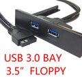 Cablecc U3-096 новая материнская плата 20 Pin к USB 3 0 два 2 порта Передняя панель кронштейн кабель для 3 5