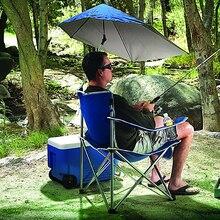 Silla de pesca para ocio al aire libre, silla de playa plegable portátil, silla de camping de viaje con paraguas