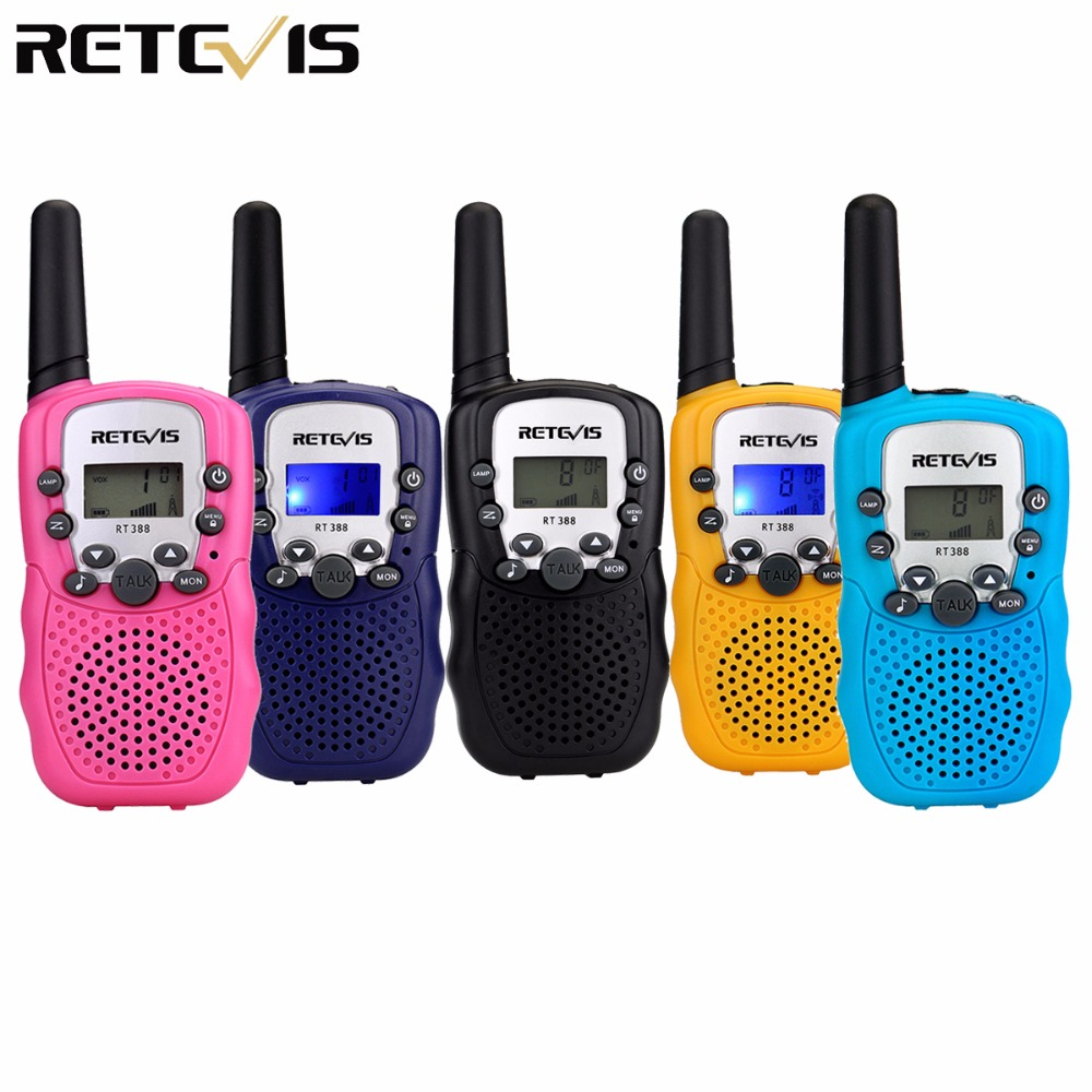 2 pz Mini Walkie Talkie Per Bambini Radio Retevis RT388 0.5 w FRS/PMR 446 di Frequenza UHF Portatile A Due Vie radio Regalo A7027