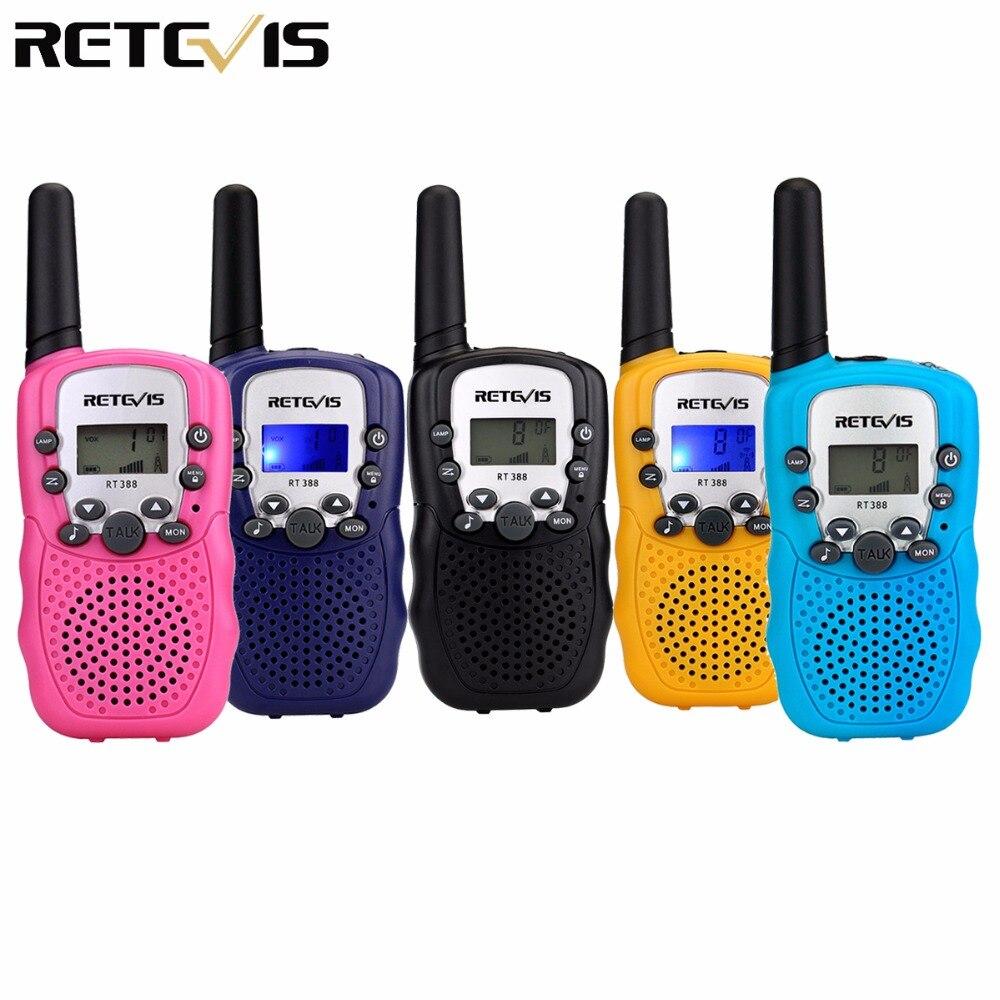 Une paire Mini Talkie Walkie Enfants Radio RT388 Retevis RT-388 0.5 W UHF PMR Fréquence Portable Two Way Radio Cadeau A7027B