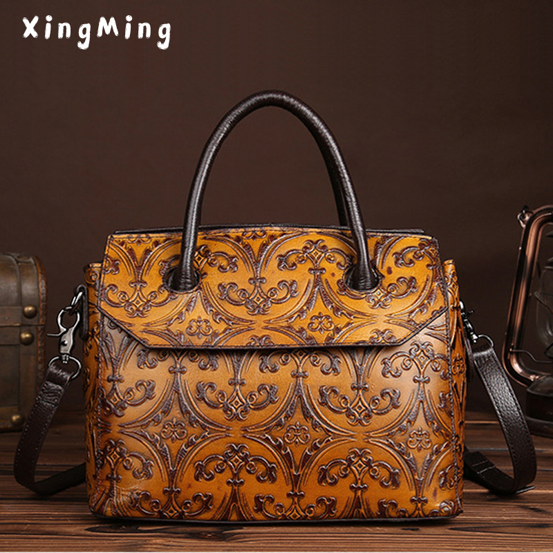 Luxury Vintage women Handbags Large Capacity Genuine Leather lady Bags Famous Designers Shoulder Bags for woman Ins Popular