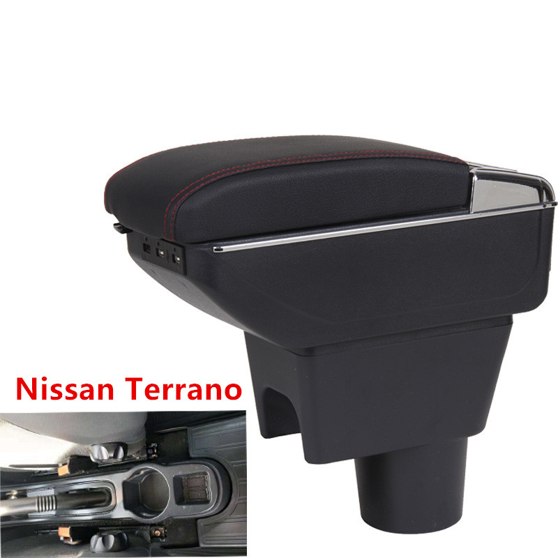 For Nissan Terrano Armrest Box Central Store Content Box Cup Holder Ashtray Interior Car-styling Decoration Accessories