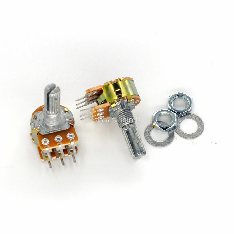 5PCS WH148 6Pin 20mm Potentiometer B1K B5K B10K B20K B50K B100K B500K 1K 5K 10K 20K 50K 100K 500K