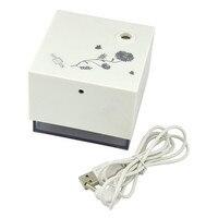 Portable 200ml Cube Usb Humidifier Blue Night Lamp Mute Home Appliances Cool Mist Maker Mini Air