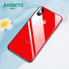 AKBKTII luxury Plating Edge glass Case for iPhone 7