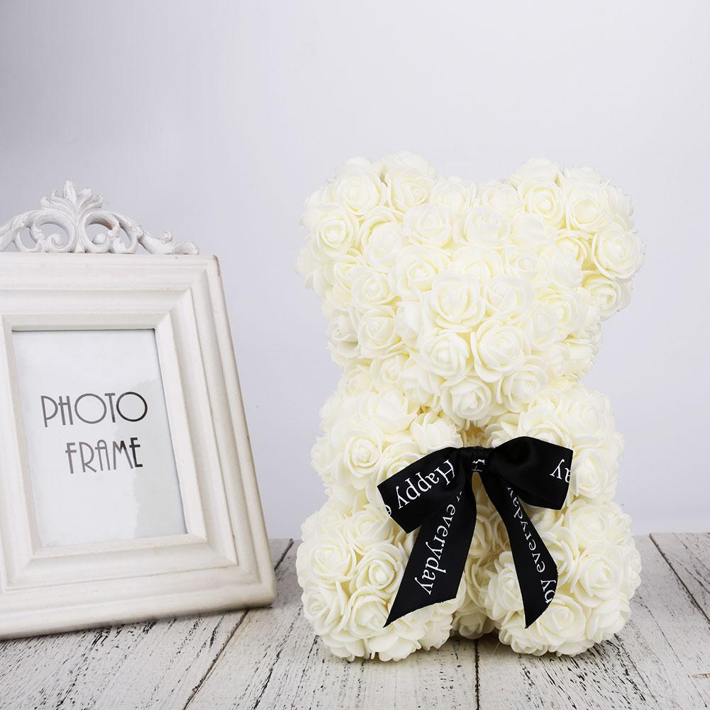 Пена и изображением медведя кукол романтические искусственные розовая игрушка подарок на день рождения Любовь Розовый украшением в виде медведя ко Дню Святого Валентина для Юбилей подруги - Цвет: Beige