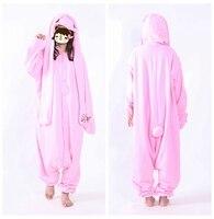 Wiki S Store New Designer Kawaii Animal Rabbit Unisex Adult Cosplay Customes Onesie Jumpsuit Fleece