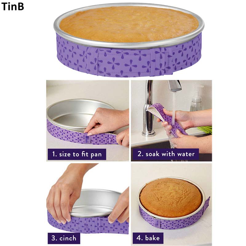 New Cake Pan Strips Bake Even Strip Belt Moist Level Cake Decorating Tools Baking Sheet To Protect Banding Cloth Pasty Tool(China)