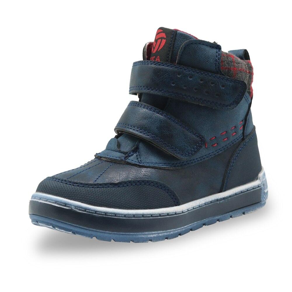 5580f26b0 Купить Apakowa дети осень весна ботильоны для мальчиков детские  мотоциклетные крюк и петля Нескользящие уличные походные ботинки для  мальчиков обувь Цена ...