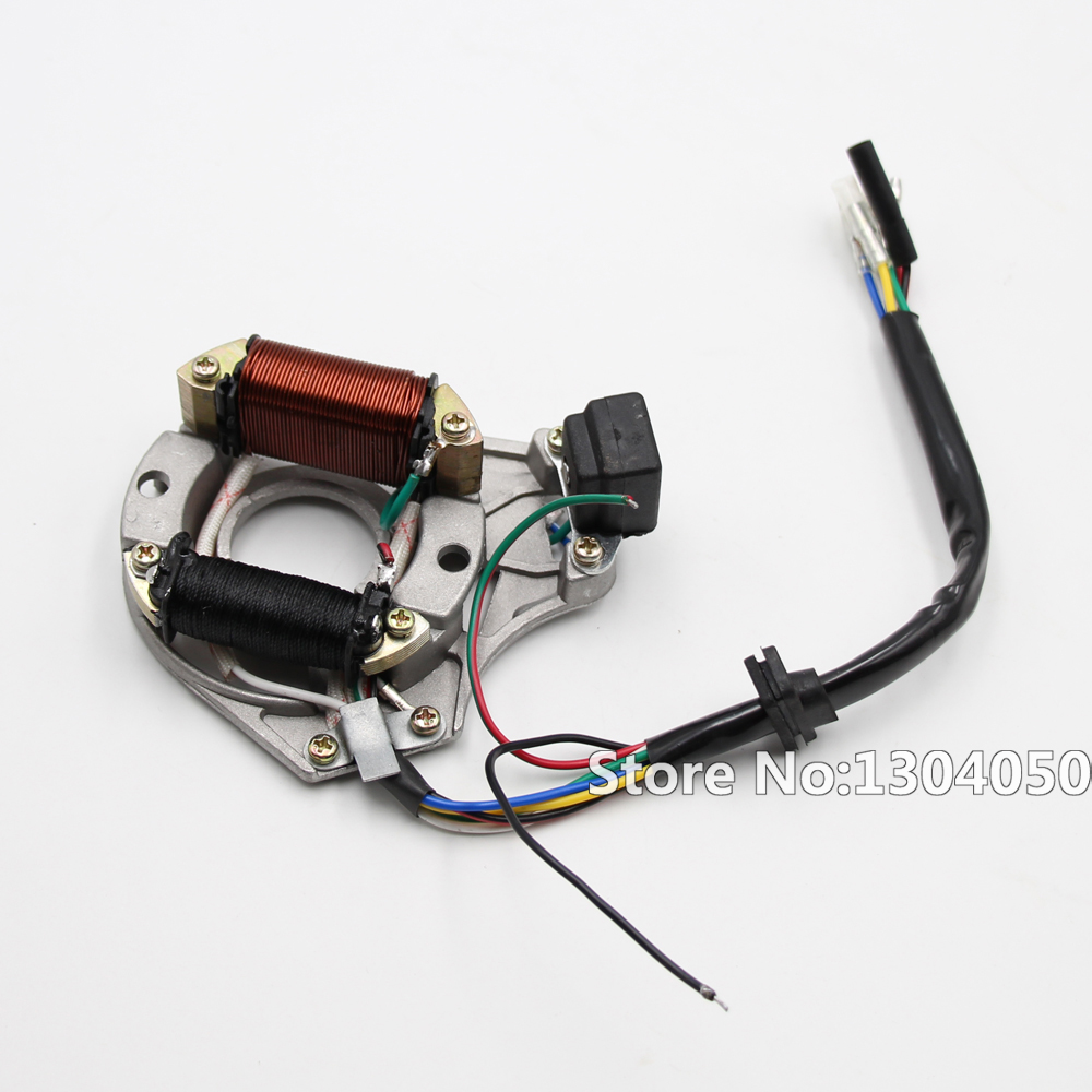 Complete Electrics Coil Cdi Magneto Stator Wiring Harness Atv Klx 125cc 100 Brand New Electric Start Engine Loom For 50cc 110cc Pit Quad Dirt Bike Dune Buggy 70cc 90cc 4