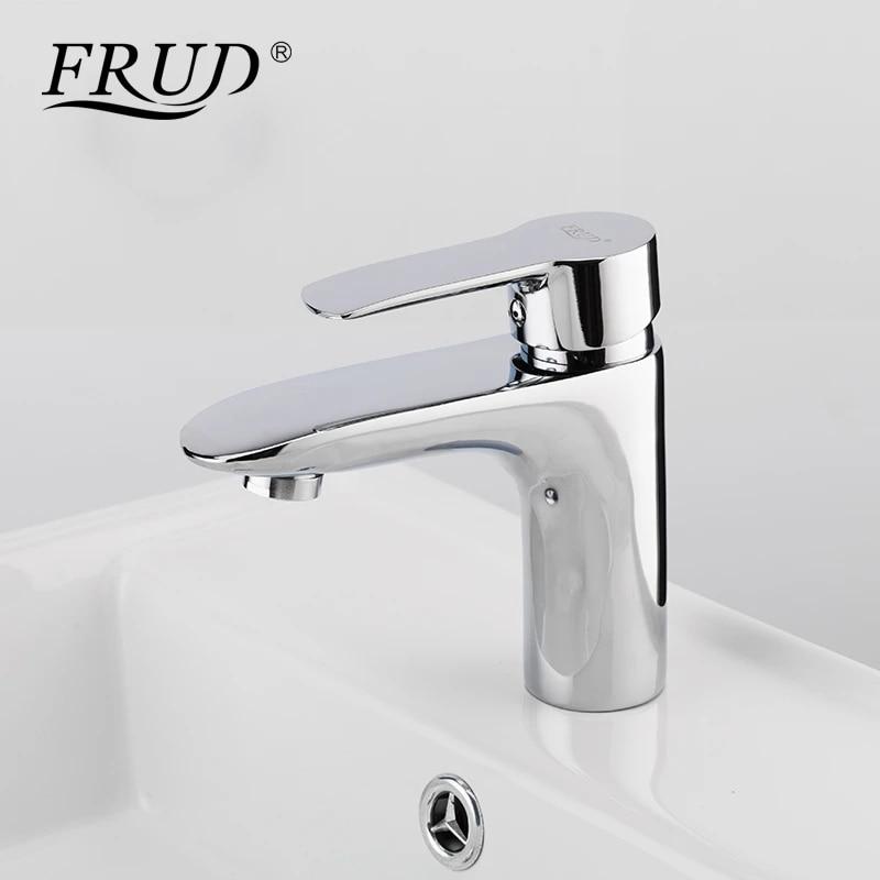 frud new listing basin faucet chrome plating single cold bathroom faucet bathroom balcony faucet silver basin sink faucet r10106