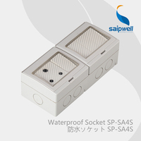 Saipwell Electrical Plugs & Sockets waterproof switch box IP55 Level Double Control South Africa Style (SP SA4S)