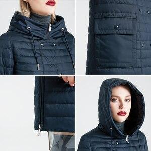 Image 5 - MIEGOFCE 2020 nowa kolekcja damska kurtka wiosenna stylowy płaszcz z kapturem i naszywki podwójna ochrona przed wiatrem