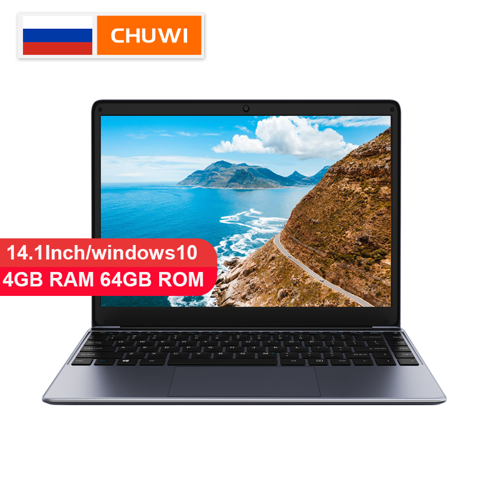 CHUWI Original HeroBook 14.1 Inch Laptop Windows 10 Intel E8000 Quad Core 4GB RAM 64GB ROM Laptop Borderless Keyboard(China)