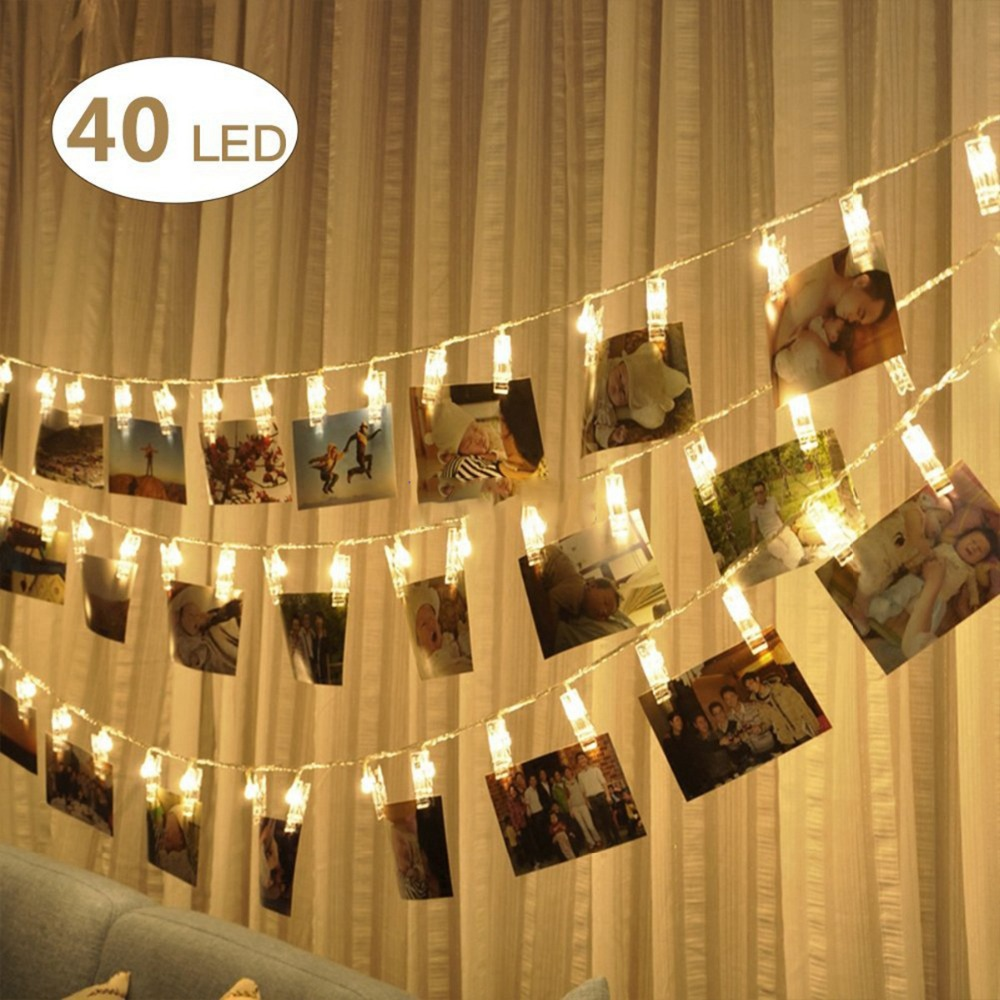 Z20 Litwod LED clip light string 1.2 meters 2.2 meters 4.2 meters battery box USB decorative lights holiday photo clip lights