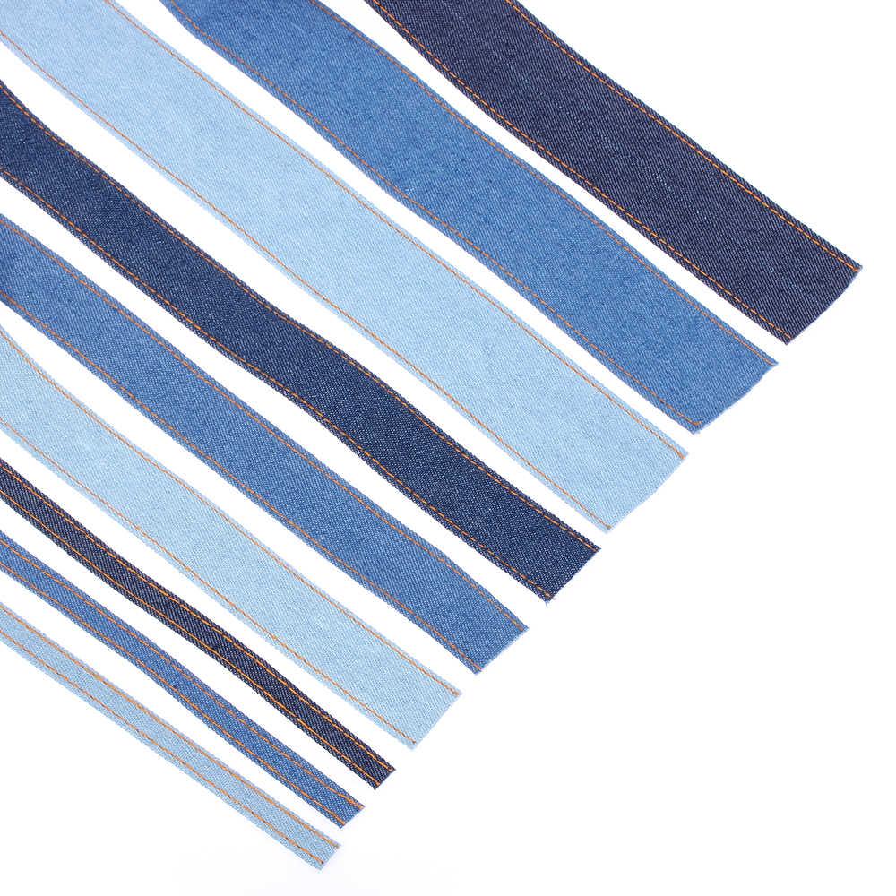Nieuwe dubbelzijdige Jumper Denim Lint Jeans Stof Tape Boog Cap Kleding Decoraties Naaien DIY Ambachten Haarspeld Accessoires