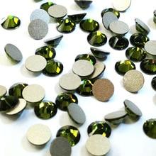 Olivine Color All Size 1 Bag NonHotfix Rhinestone Flatback Glass  Nails For Nail Art Designs 3D Glitter DIY Accessories