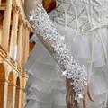 Vestido de casamento sunsreen luvas emagrecimento sensuais luvas de noiva casado laço de diamantes