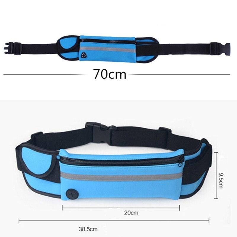 HTB1wYHaKXGWBuNjy0Fbq6z4sXXaq 2019 New Men Women Gym Fitness Pocket Waterproof Sports Waist Bag Pack Belly Belt Bag Outdoor Running Waist Bags Simple Solid