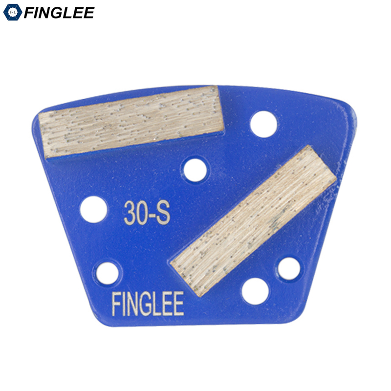 FINGLEE Trapezoid Diamond Grinding Shoes #30 Concrete Paint Floor Aggreesive Cutting Medium Extra Soft Hard Bond Hard Bond