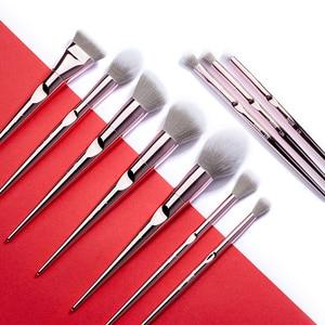 Image 2 - Jessup Set Make Up Kwasten Set 10Pcs Metallic Roze Beauty Make Up Borstel Zachte Blush Powder Foundation Oogschaduw Borstel Abs handvat