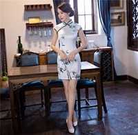 Shanghai Story chinese traditional dress Short Sleeve Qipao Oriental styled dresses Vintage Dress