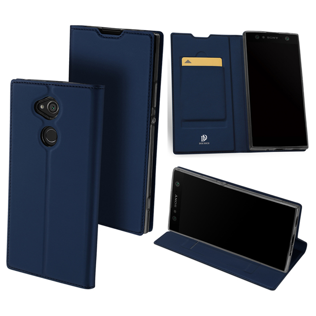 online retailer d51ef 404e8 US $9.06 18% OFF|Original DUX DUCIS Leather Case For Sony Xperia XA2 Ultra  Cover Luxury Flip Stand Wallet Case For Sony Xperia XA2 Phone Case Bag-in  ...