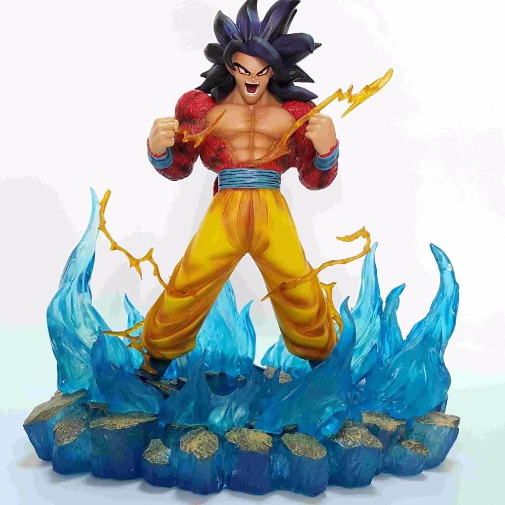 Super Seiya Dragon Ball Z Son Gokou Resin Figure Kakarotto  4 GK 35CM Brinquedos Dragon Ball Model Toy Figuras Esferas Del Drago dragon ball z goko s3 dod original figure super seiya dbz action figuras model