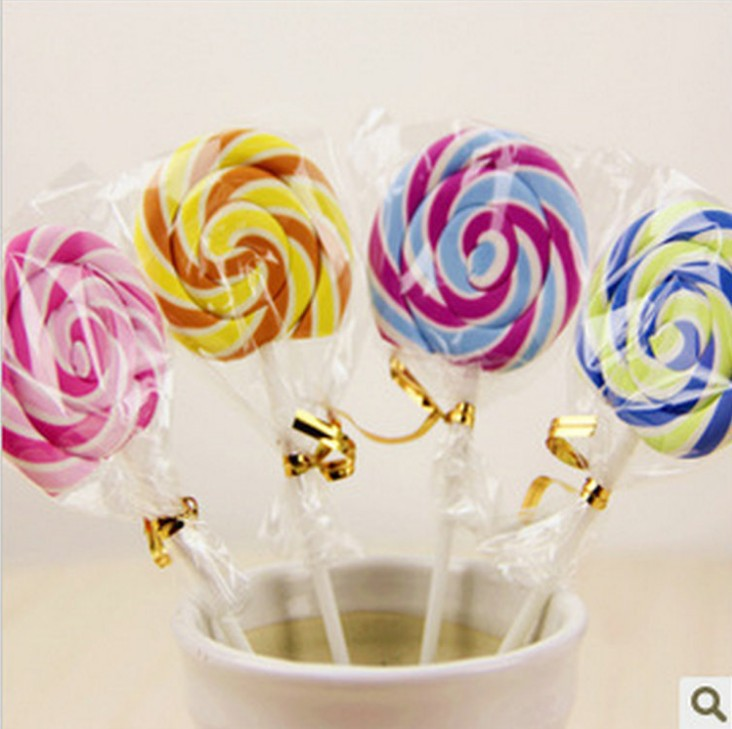 Cute Kawaii Cartoon Lollipop Rubber Erasers For Kids Lovely Creative Stationery Gift Wholesale Free Shipping 654