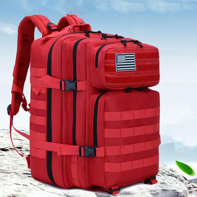 50L militaire Molle sac à dos tactique armée hommes voyage couverture de pluie sac à dos étanche sac à dos touristique Mochila Tatica Camping Canta