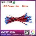 20 см длинный красный и черный led линии электропередачи кабель питания для светодиодный экран электронный светодиодный длинные линии электропередачи аксессуары питания