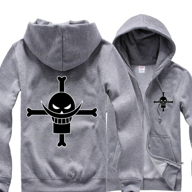 Anime One Piece Edward Newgate Figure Hoodie