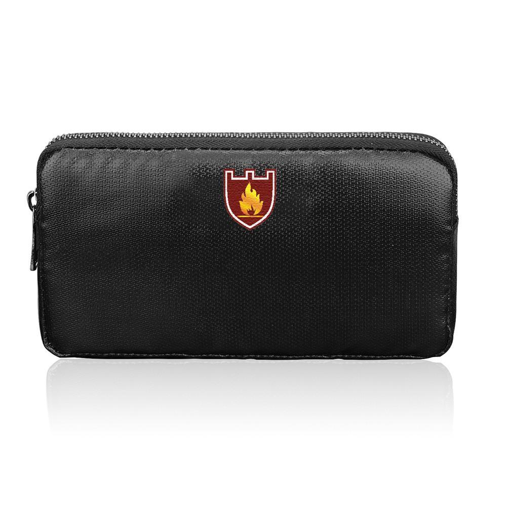 GPS RFID Fireproof Money Bag Pouch Cash Bank Cards Passport Valuables Organizer Holder Safe Storage Signal Blocking Bag
