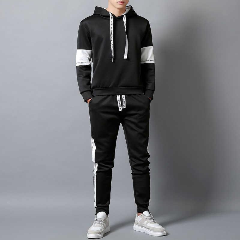 DIMUSI мужской спортивный костюм спортивная одежда спортивный костюм мужской спортивный костюм куртка толстовки + брюки мужские s тонкие спортивные костюмы 4XL, YA760