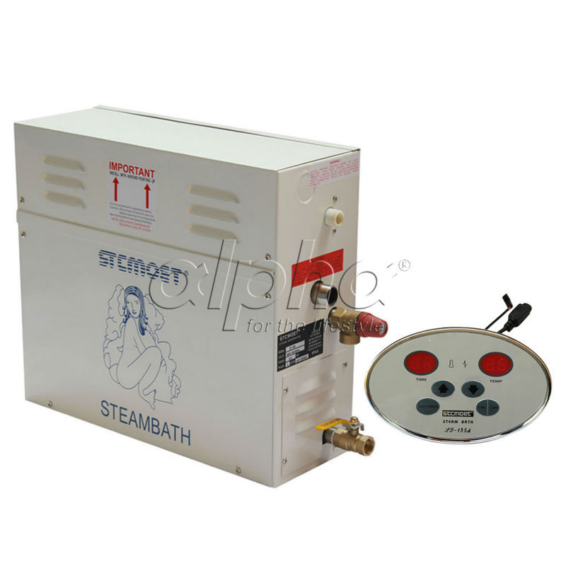 Free shipping 15KW steam generator with single aroma pump and 2 boxes 4 smell fragrance oil to Iraq
