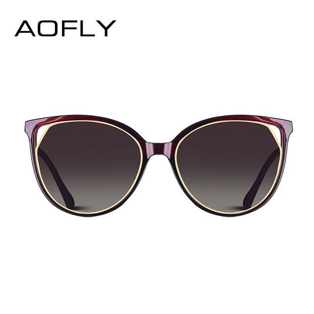 AOFLY BRAND DESIGN Fashion Sunglasses 2018 Polarized Cat Eye Sun Glasses For Women Rhinestone Temple UV400 A104  2
